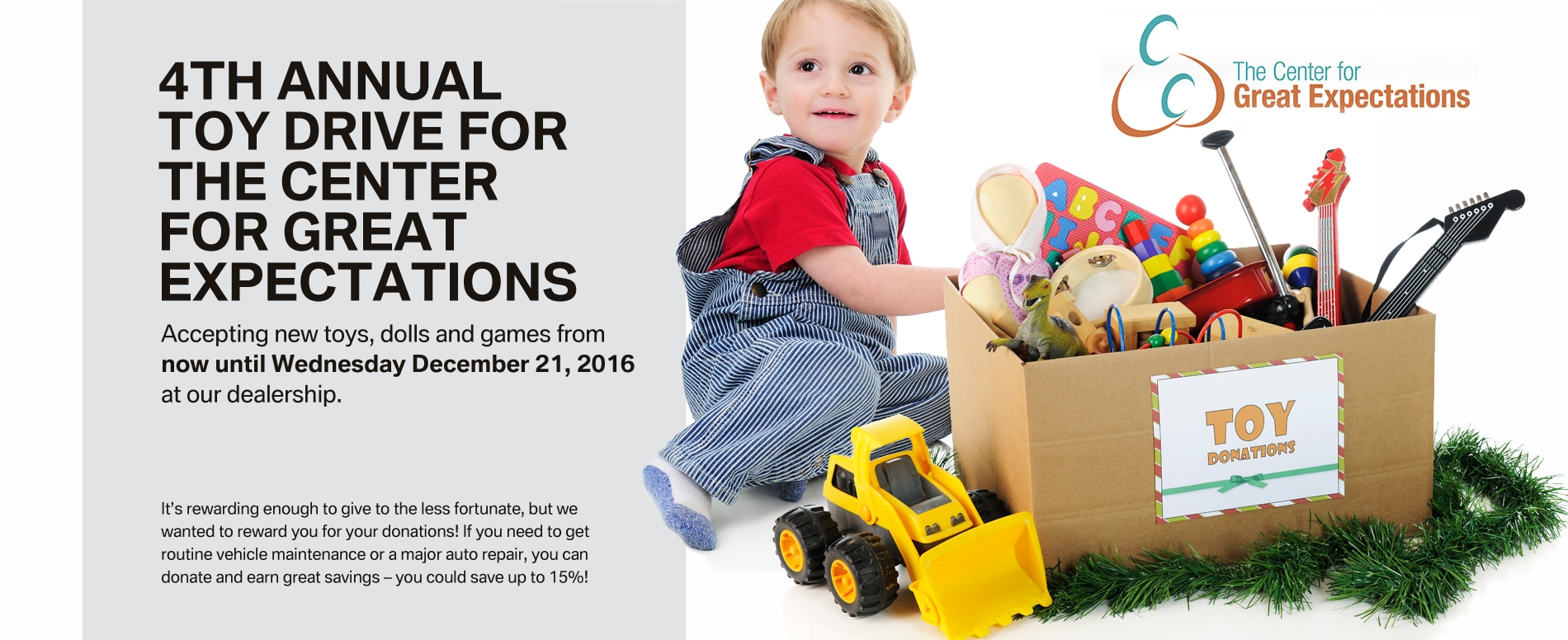 Center For Great Expectations Toy Drive