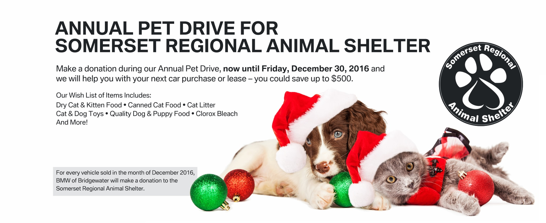 Somerset Regional Animal Shelter Pet Drive