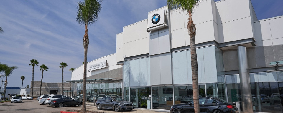 Exterior view of BMW of Buena Park during the day