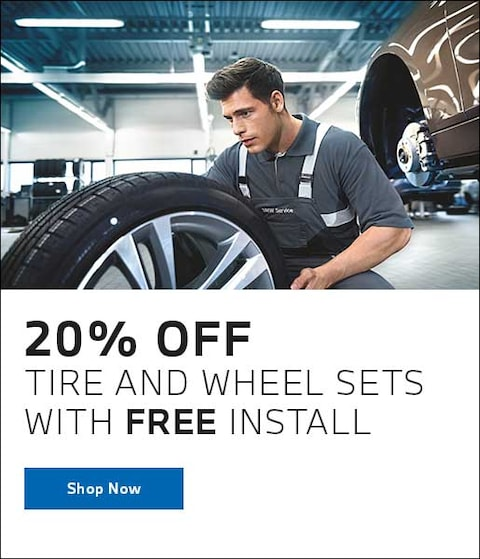 20% Off Tire and Wheel Sets with Free Install