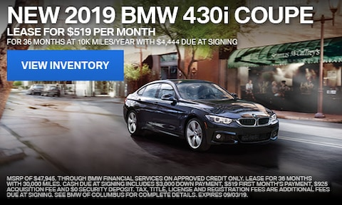 2019 BMW 430i Coupe August Offer