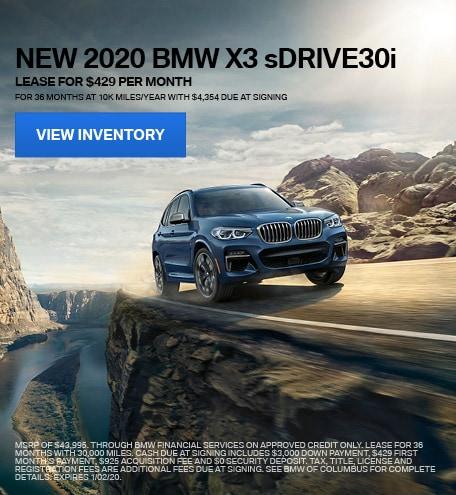 New 2020 BMW X3 sDRIVE30i - December Special