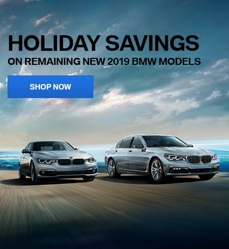 Holiday Savings on Remaining New 2019 BMW Models - December Special