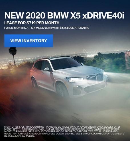 New 2020 BMW X5 xDRIVE40i - December Special