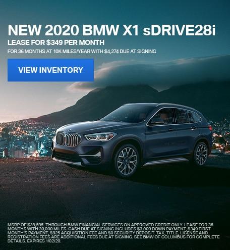 New 2020 BMW X1 sDRIVE28i - December Special