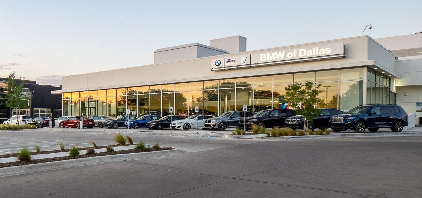 Exterior view of BMW of Dallas