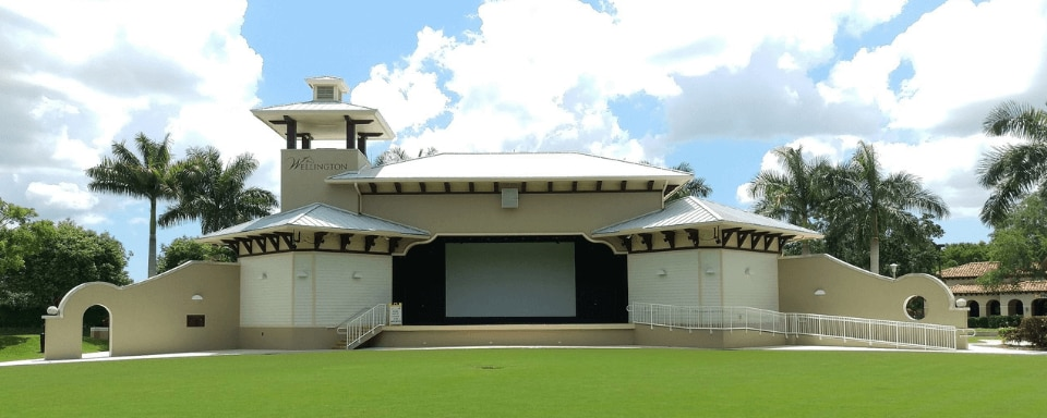 Exterior view of an Amphitheater in Wellington