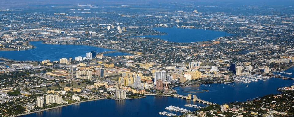 Aerial view of West Palm Beach