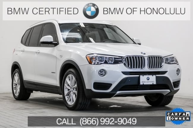 Certified 2017 BMW X3 sDrive28i SAV for sale at BMW of Honolulu