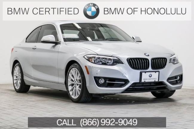 Certified 2016 BMW 228i w/SULEV Coupe for sale at BMW of Honolulu