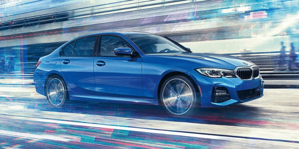 2019 BMW 3 Series front 3/4 view