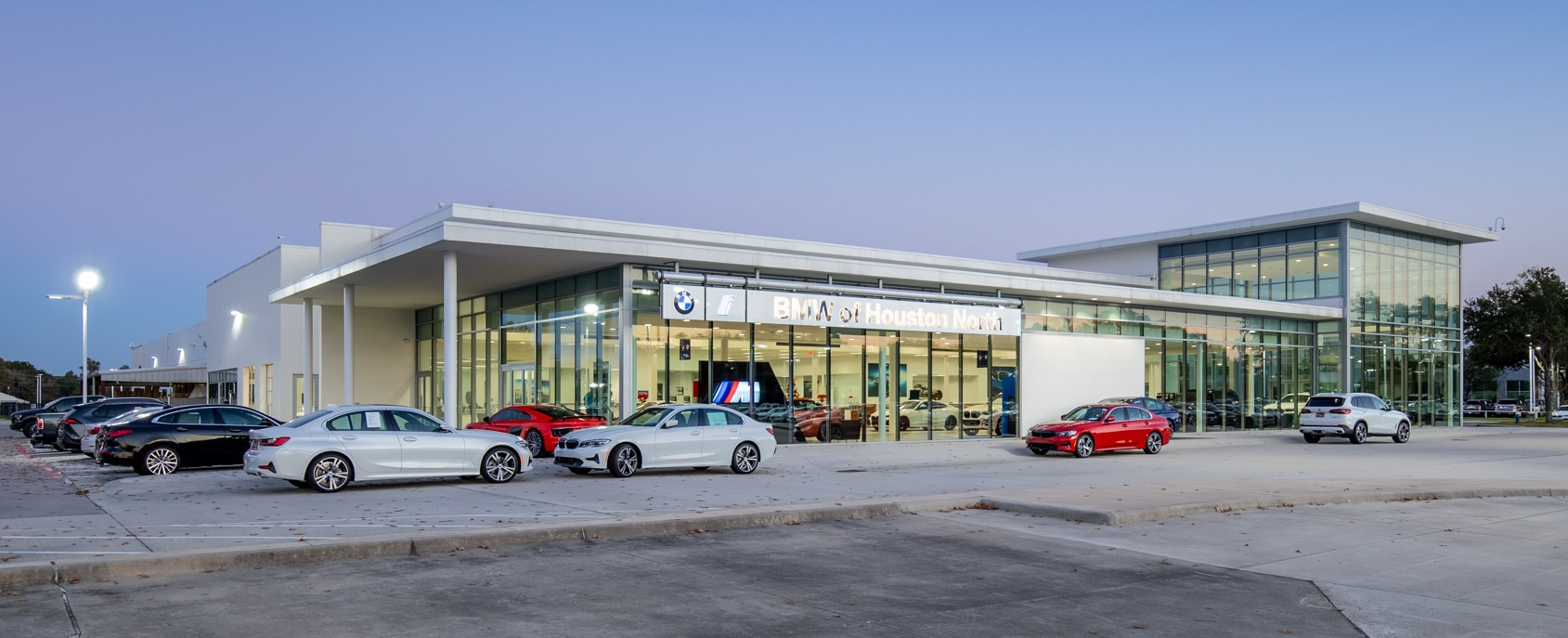 Exterior view of BMW of Houston North
