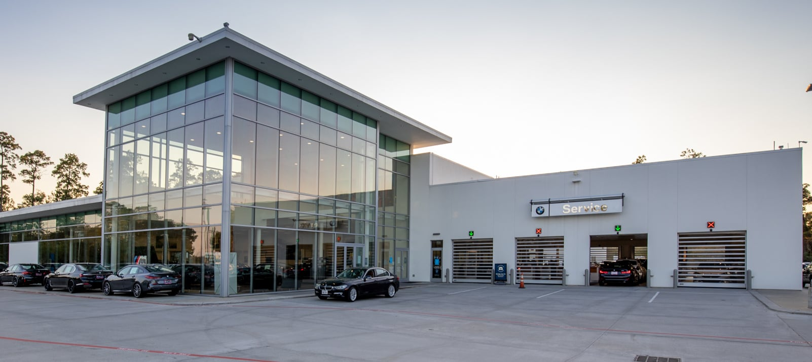 View of BMW of The Woodlands Service Center