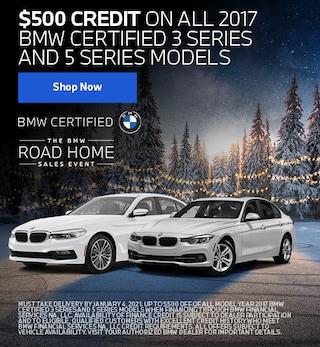 $500 Credit 2017 3 & 5 Series