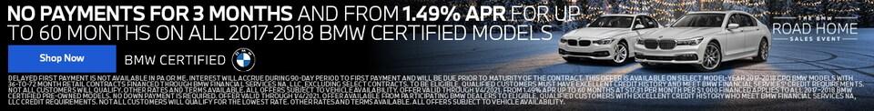 No Payments & 1.49% APR CPO