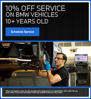10% off Service BMWs 10+ Years