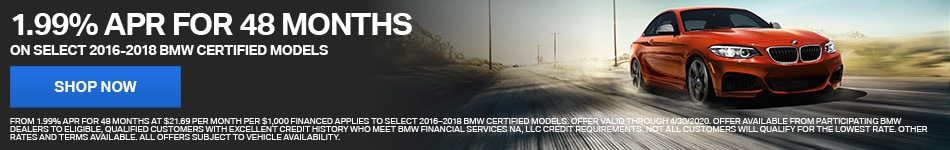 1.99% APR Certified Pre-Owned BMW Models