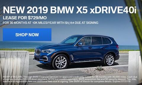 2019 BMW X5 Offer
