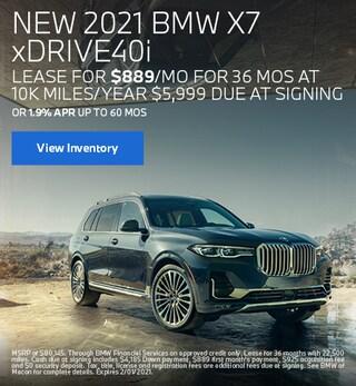 January BMW 2021 X7