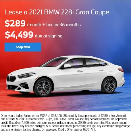 Lease a 2021 BMW 228i Gran Coupe