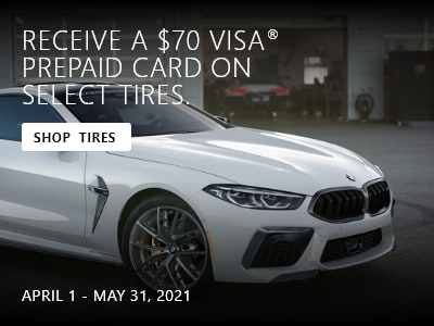 Receive $70 prepaid card on select tires.