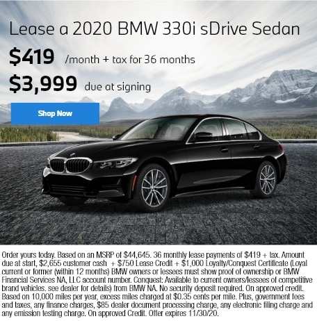 Lease a 2020 BMW 330i sDrive Sedan