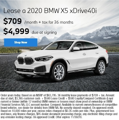 Lease a 2020 BMW X5 xDrive40i
