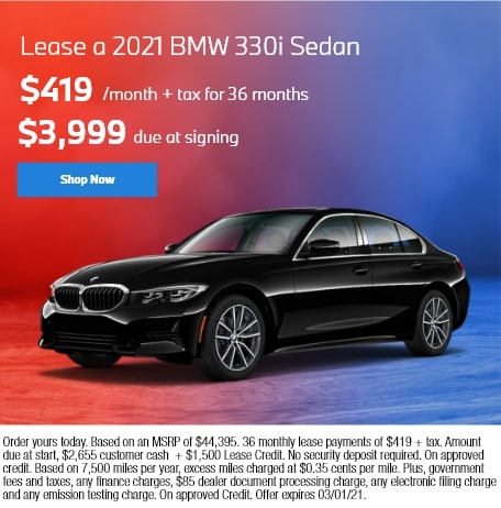 Lease a 2021 BMW 330i Sedan