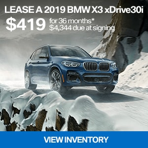 Lease a 2019 BMW X3 xDrive30i for $419