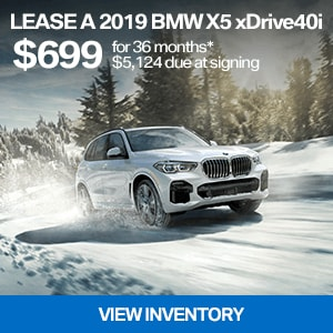 Lease a 2019 BMW X5 xDrive40i for $699