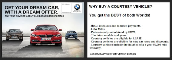 Bmw Of Murray >> Ex Loaner Car Specials Bmw Of Murray