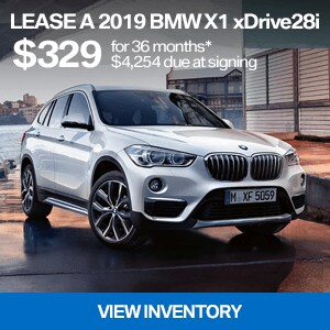 Lease a 2019 BMW X1 xDrive28i for $329