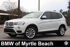 Certified Pre-Owned 2016 BMW X3 xDrive28i SAV 7164 Myrtle Beach South Carolia