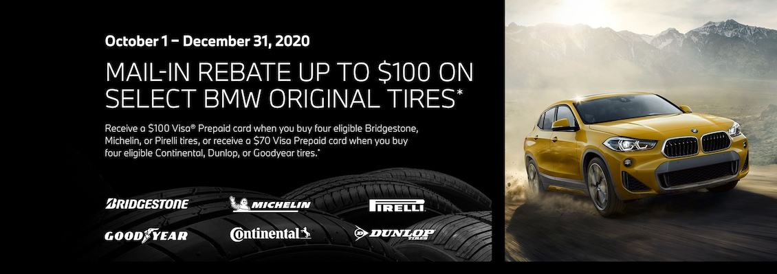 Mail-In Rebate up to $100 on Select BMW Original Tires