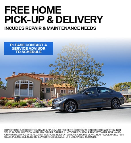 Free Home Pick-Up and Delivery