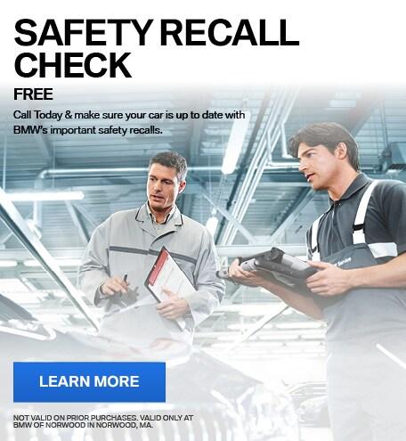 SAFETY RECALL CHECK