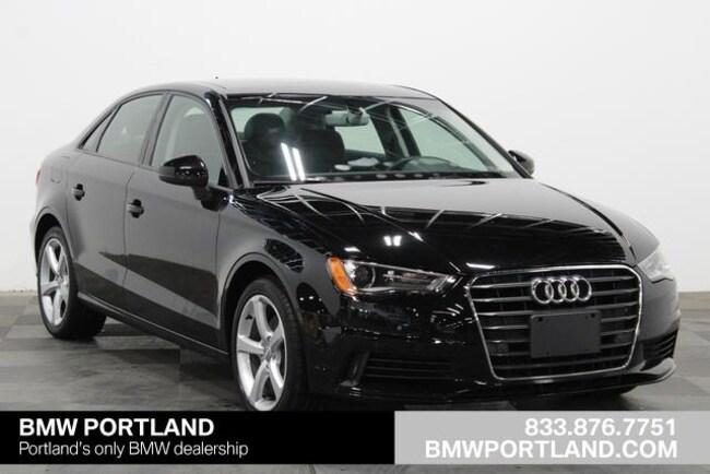 Used 2016 Audi A3 Car 4dr Sdn FWD 1.8T Premium Portland, OR