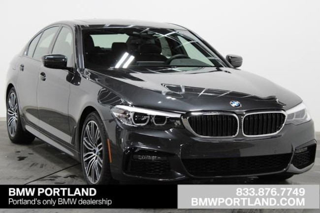 New 2019 BMW 5 Series 540i Sedan Car Dark Graphite