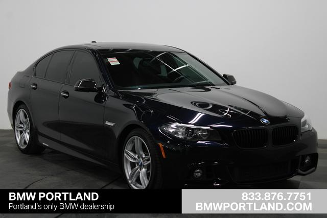 Certified Pre Owned 2016 Bmw 5 Series Car Carbon Black
