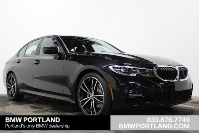New 2019 Bmw 3 Series 330i Xdrive Sedan Car Black Sapphire
