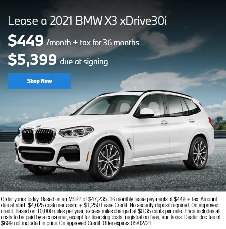 Lease a 2021 BMW X3 xDrive30i