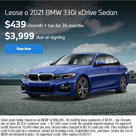 Lease a 2021 BMW 330i xDRIVE SEDAN