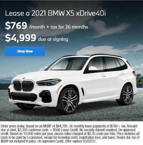 Lease a 2021 BMW X5 xDRIVE40i