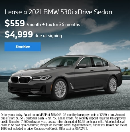 Lease a 2021 BMW 530i xDrive Sedan