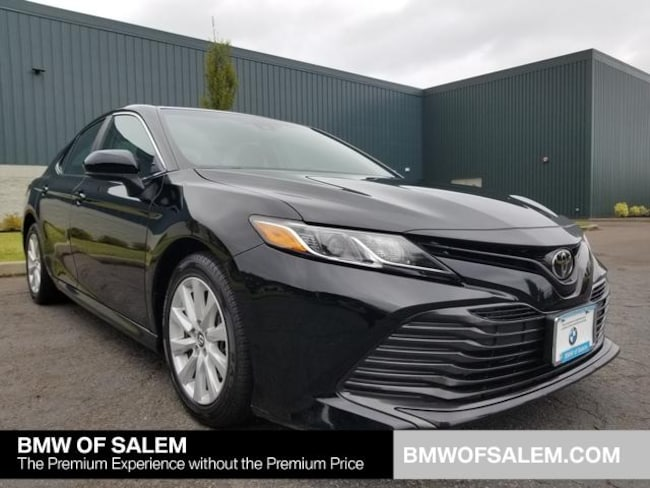 Toyota Salem Oregon >> Pre Owned 2018 Toyota Camry Le Sedan Midnight Blackfor Sale In