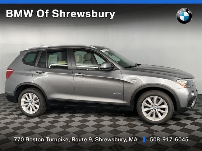 Certified Pre Owned 2017 BMW X3 xDrive28i SUV Shrewsbury