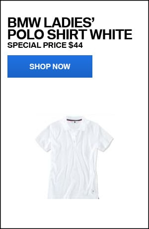 BMW Ladies' Polo Shirt White