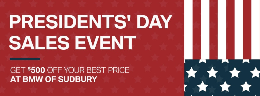 Presidents' Day Sales Event at BMW of Sudbury