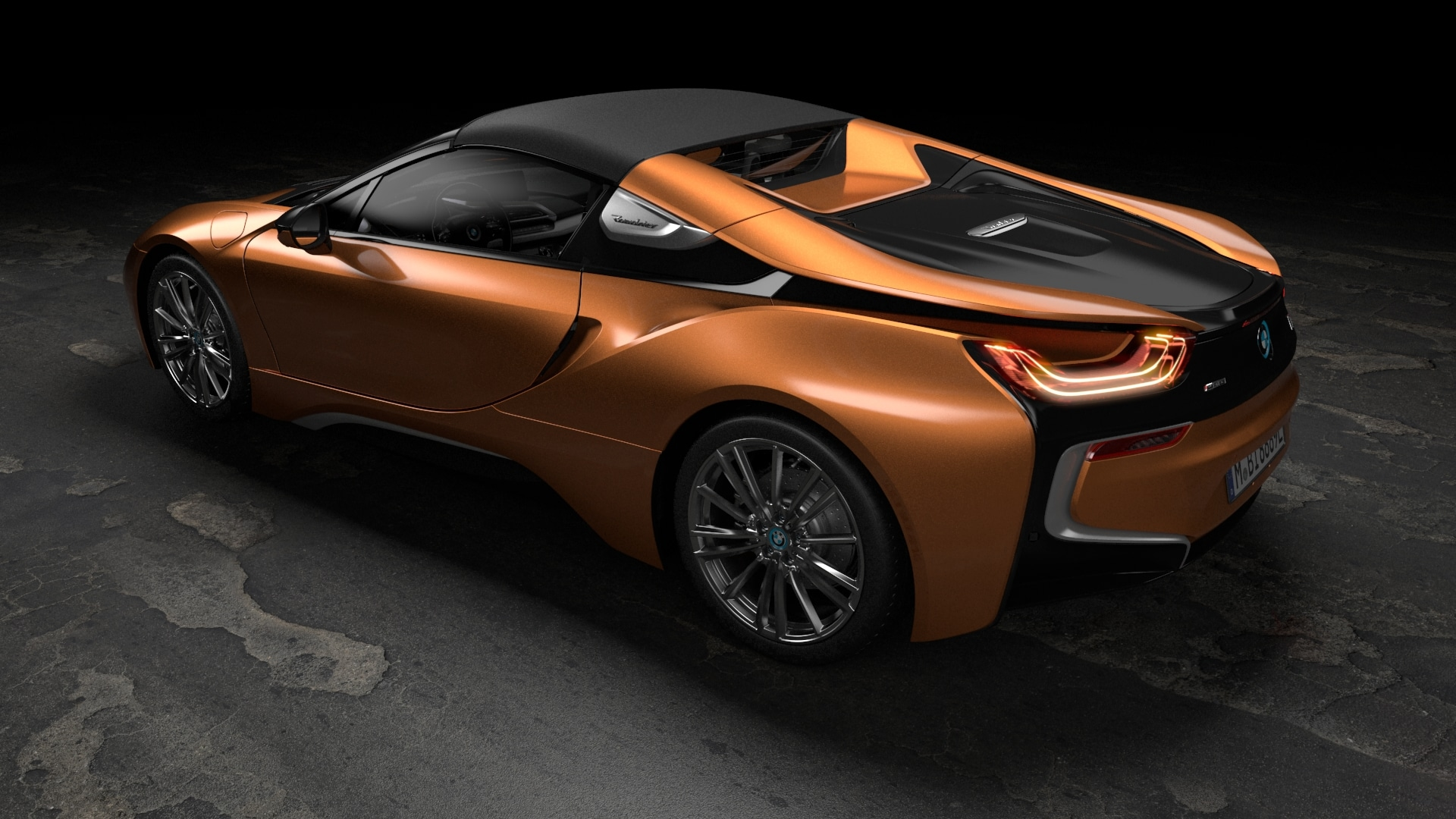 orange 2019 BMW i8 roadster