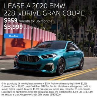 Lease a 2020 BMW 228i xDrive Gran Coupe